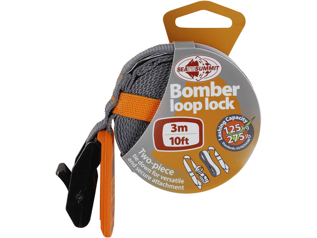 Sea to Summit Bomber Corda elastica 3,0m, orange/grey